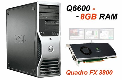 DELL Precision 390 Workstation Q6600/8GB - FX3800 2xDP