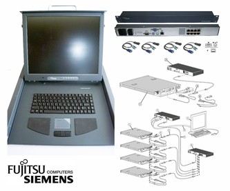 "FS 17"" KVM Keyboard Drawer + KVM switch +4 cable"