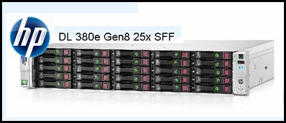 25x SFF server HP DL380 Gen8
